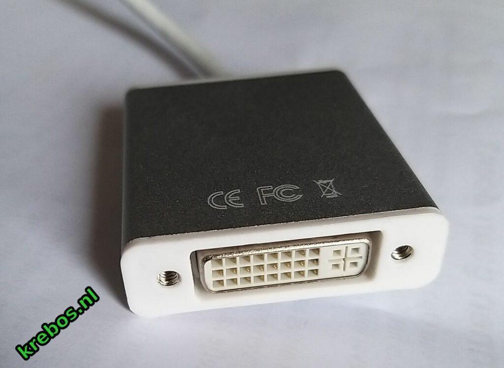 achterzijde convertor DVI-D