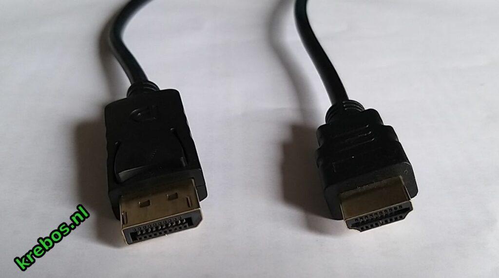 (l) DisplayPort, (r) HDMI